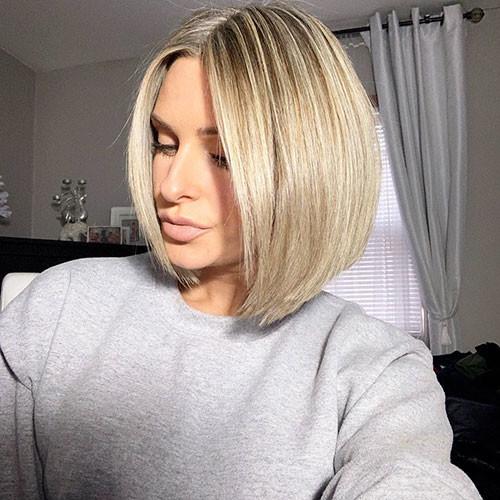 40-short-blonde-bob Famous Blonde Bob Hair Ideas in 2019
