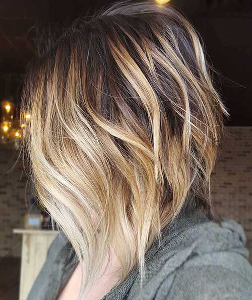 42-brown-hair-with-blonde-highlights-short-hair Beautiful Brown to Blonde Ombre Short Hair