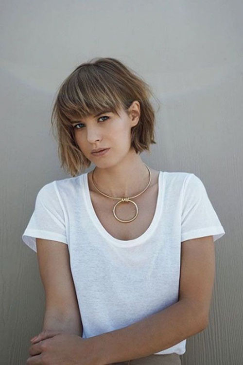 43-short-layered-hairstyles-with-bangs-for-fine-hair Best Short Layered Bob With Bangs