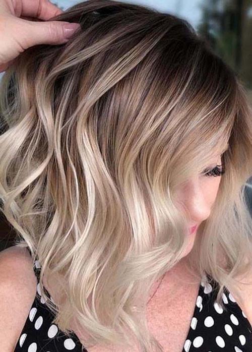 44-brown-and-blonde-balayage-short-hair Beautiful Brown to Blonde Ombre Short Hair