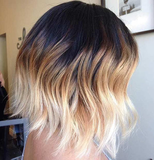 49-brown-to-blonde-ombre-short-hair Beautiful Brown to Blonde Ombre Short Hair