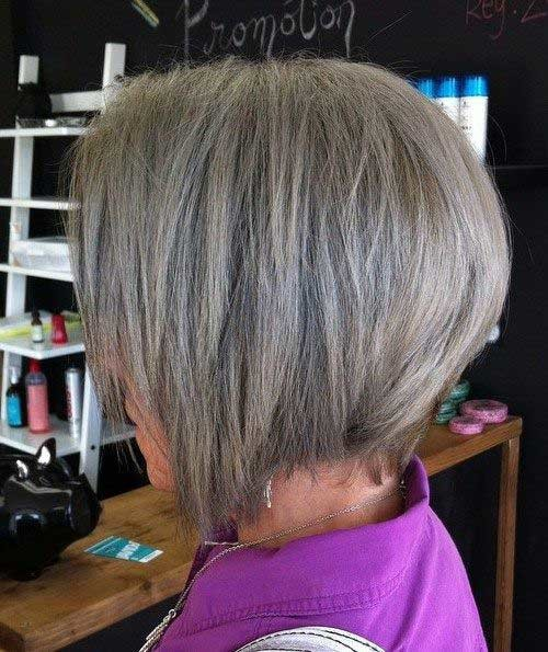 Ash-Gray-Hair-Color Chic and Eye-Catching Bob Hairstyles