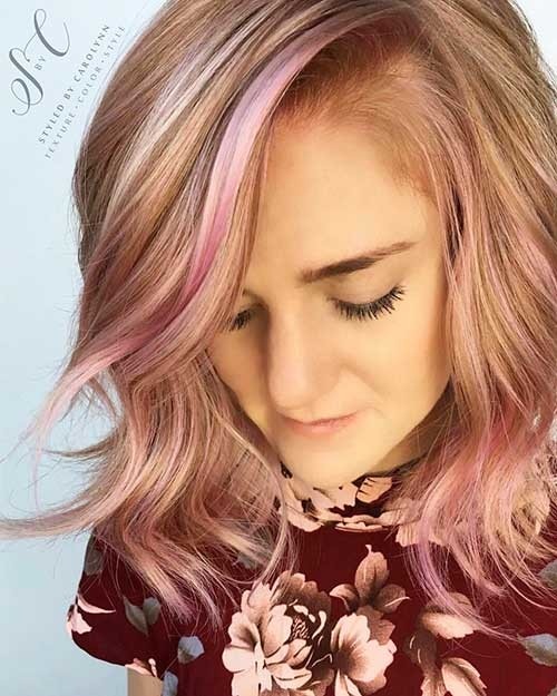 Baby-Pink-Balayage-with-a-Touch-of-Texture New Cute Hairstyle Ideas for Short Hair