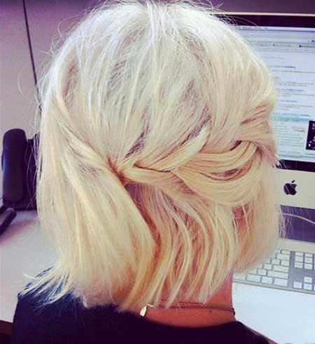 Back-View-of-Side-Short-Braid Short Braided Hairstyle