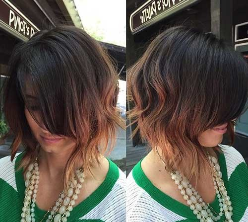 Balayage-Long-Bob-with-Curly-Ends Chic and Eye-Catching Bob Hairstyles