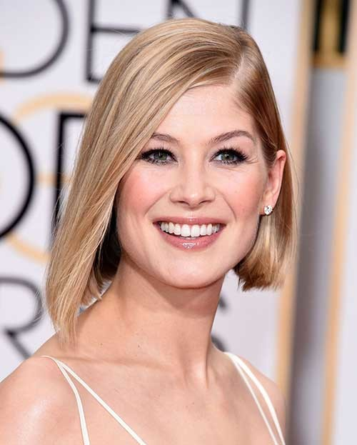 Blonde-Hair Asymmetrical Bob Haircuts