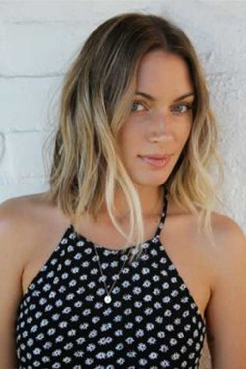 Blonde-Long-Bob-Haircut-with-Ombre-Style Beautiful Ombre Bob Hairstyles
