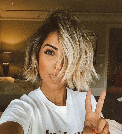 Blonde-Ombre Latest Short Haircuts for Women 2019