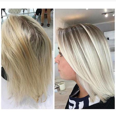 Blonde-Straight New Bob Hairstyles 2019