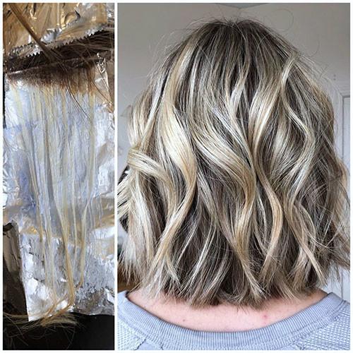 Blonde-Wavy-Bob-Hairstye Famous Blonde Bob Hair Ideas in 2019