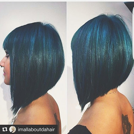 Blue New Bob Hairstyles 2019