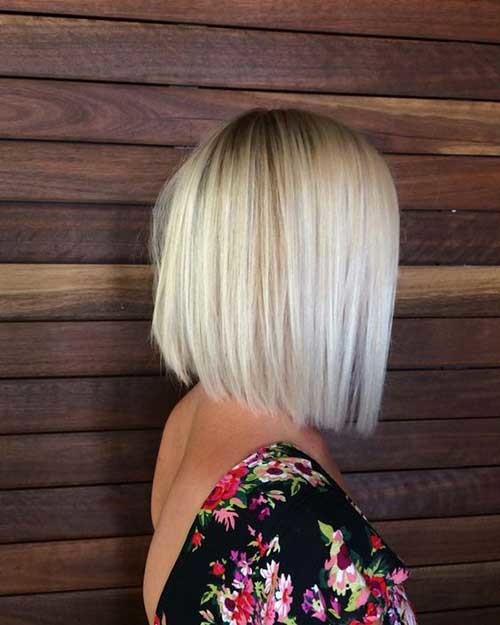 Blunt-Bob-Haircut-with-Layers Must-See Straight Hairstyles for Short Hair