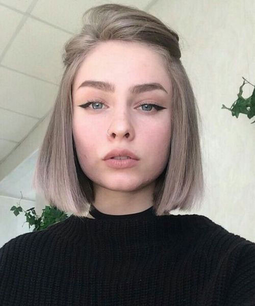 Blunt-Cut Latest Short Haircuts for Women 2019