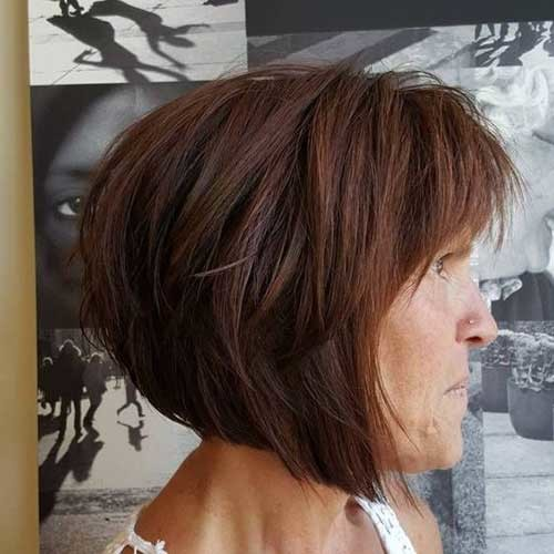 Bob-Haircut-with-Bangs Short Haircuts for Older Women 2019