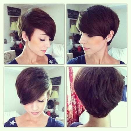 Bouncy-Side-Swept-Pixie-Hairdo Short Pixie Cuts for Women
