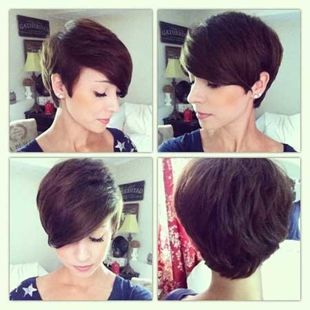 Bouncy-Side-Swept-Pixie-Hairdo Short Pixie Cuts for Women