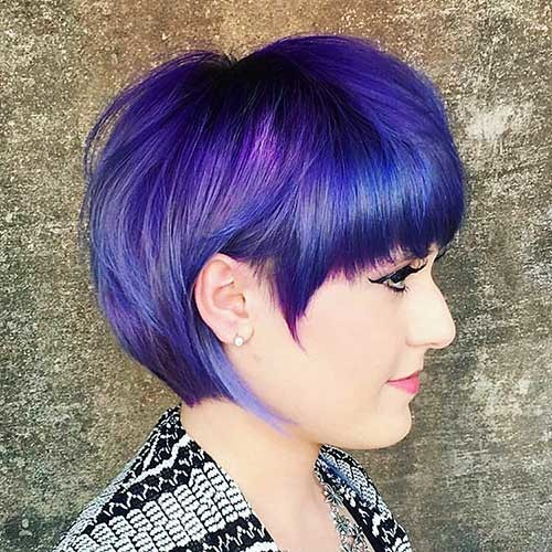 Bright-Hair-Color New Cute Hairstyle Ideas for Short Hair