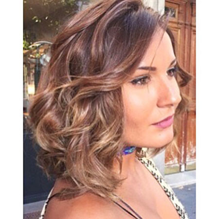 Brown-Curly New Bob Hairstyles 2019