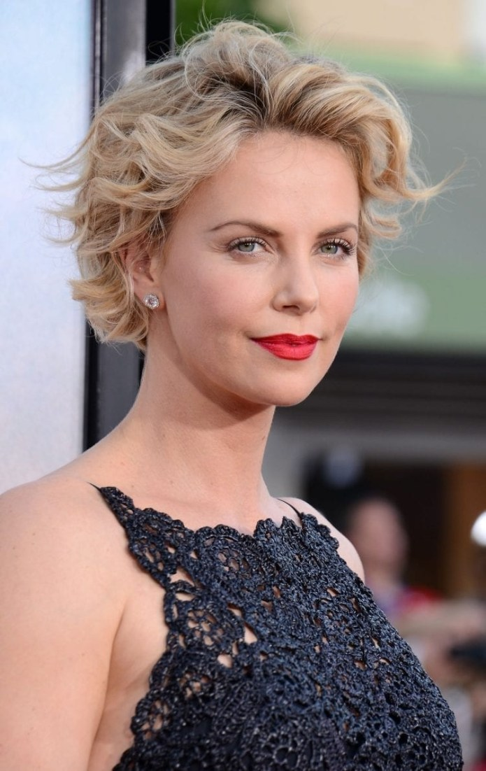 Charlize-Therons-Layered-Crop Hairstyles for Women Over 40