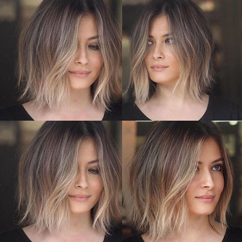 Choppy-Hair Beautiful Brown to Blonde Ombre Short Hair