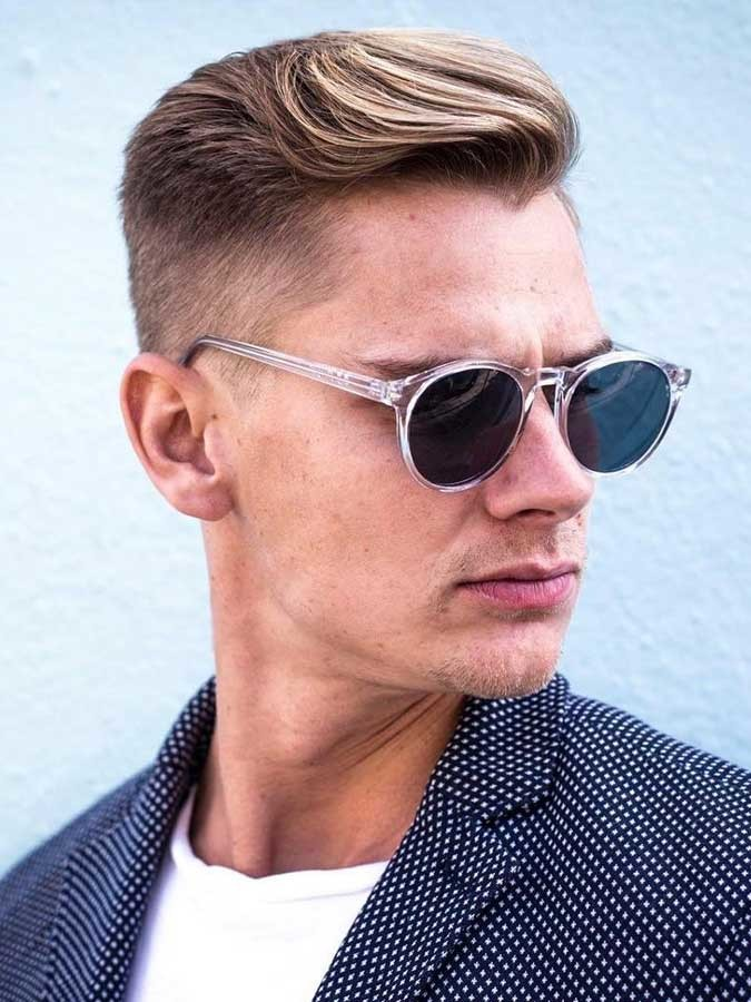 Classic-cut-LA-style Selected Hairstyles for Men With Big Foreheads