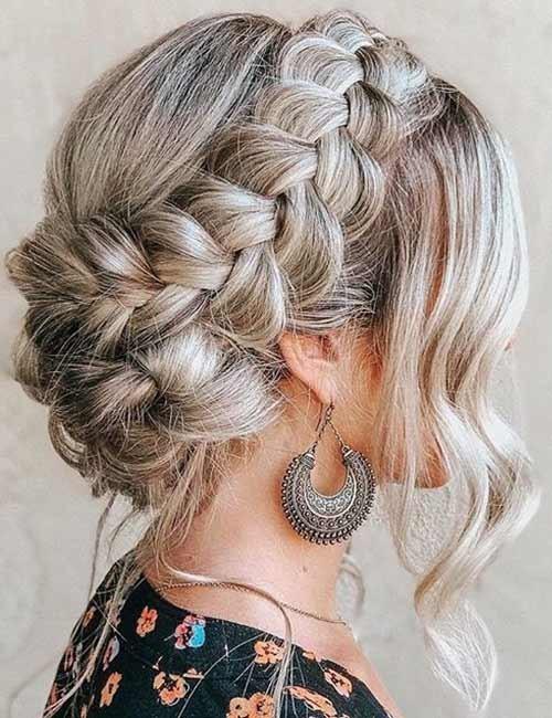 Crown-Braided-Updo Beautiful Crown Braid Hairstyles