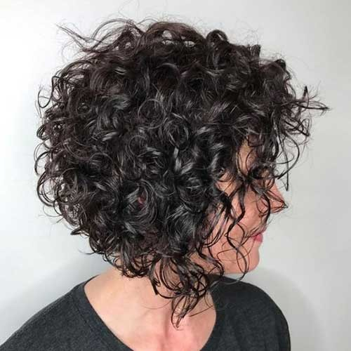 Curly-Bob Cute Curly Short Hairstyles for Ladies