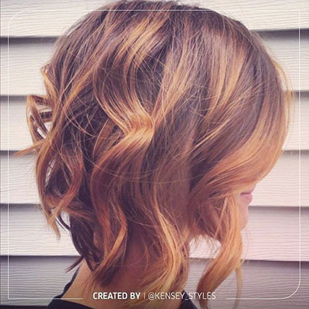 Curly-Brown New Bob Hairstyles 2019
