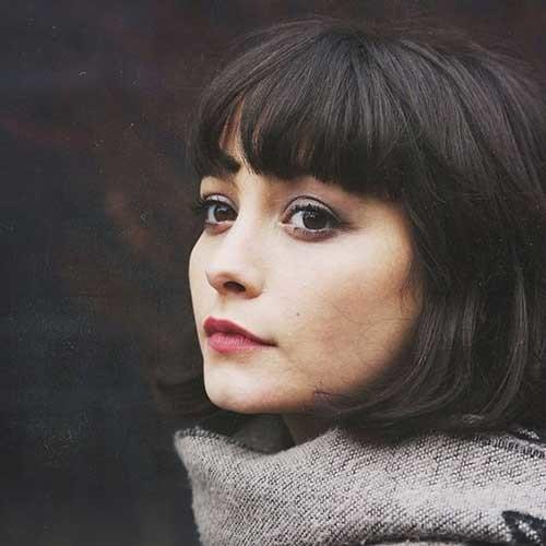 Cute-Short-Bangs Really Adorable French Style Short Haircuts