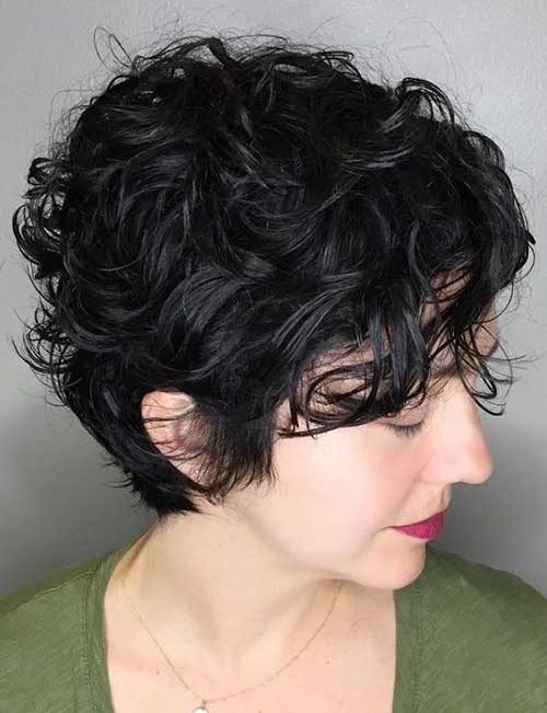 Cute-Short-Hairstyle-Curly Cute Curly Short Hairstyles for Ladies