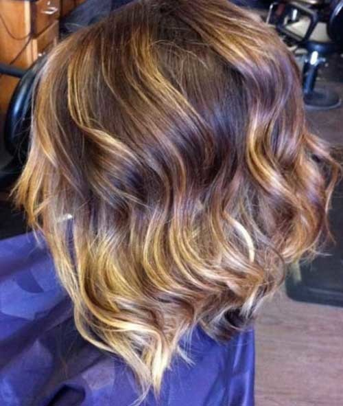 Cute-Wavy-Inverted-Bob-Hairstyle-with-Ombre Beautiful Ombre Bob Hairstyles