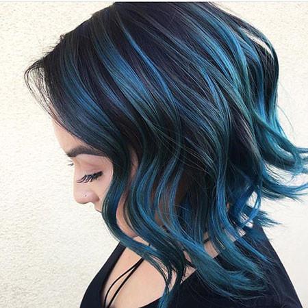 Dark-Blue New Bob Hairstyles 2019