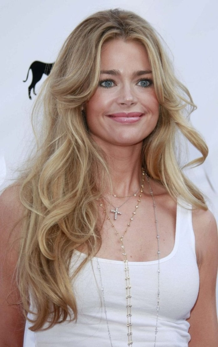 Denise-Richards-Long-Layered-Locks Hairstyles for Women Over 40