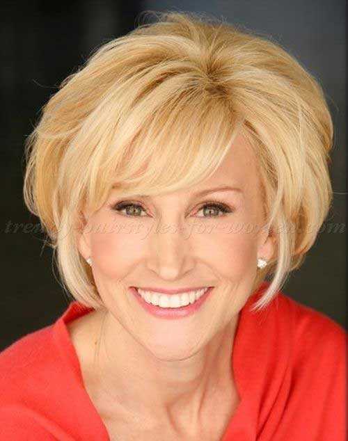Fine-Short-Blonde-Bob-for-Women-Over-50 Short Hair Styles For Women Over 50