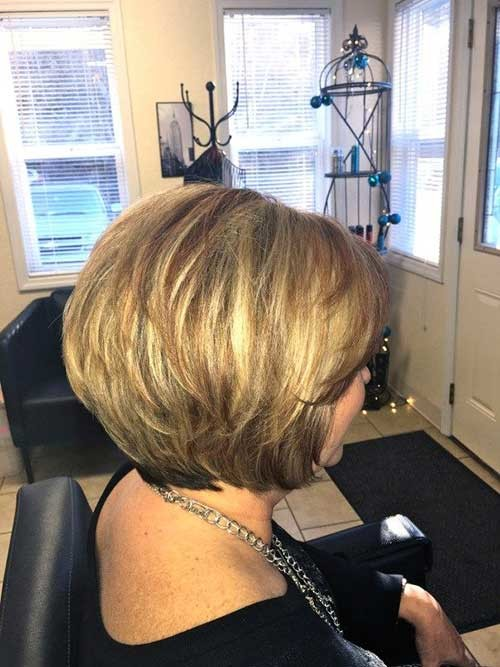 Graduated-Short-Haircut-2019-Over-50 Short Haircuts For Over 50