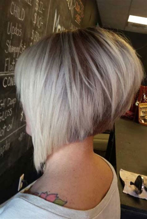 Grduated-Short-Hair Haircut Styles for Short Hair