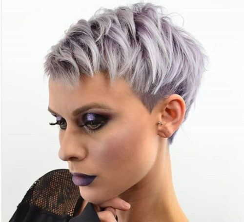 Grey-Pixie Latest Short Haircuts for Women 2019