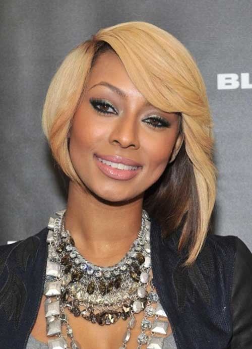 Keri-Hilson-Inverted-Hairstyle-for-Round-Faces Bob Cuts for Round Faces