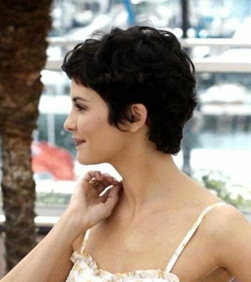 Lovely-Short-Pixie-Dark-Hair-Side-View-Look Short Hairstyles for Dark Hair