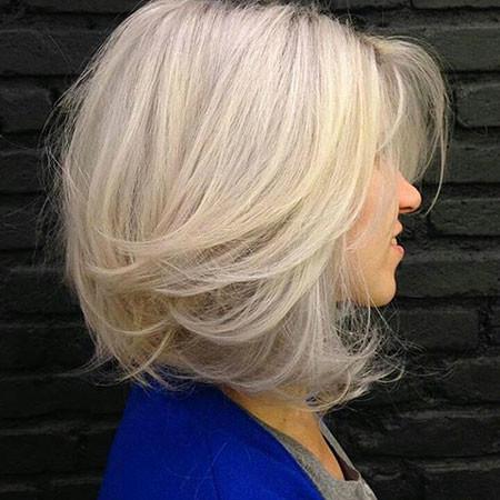 Medium-Length-Bob-Hairstyle-for-Blonde New Bob Hairstyles 2019