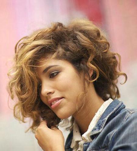 Messy-Haircut New Short Curly Haircuts