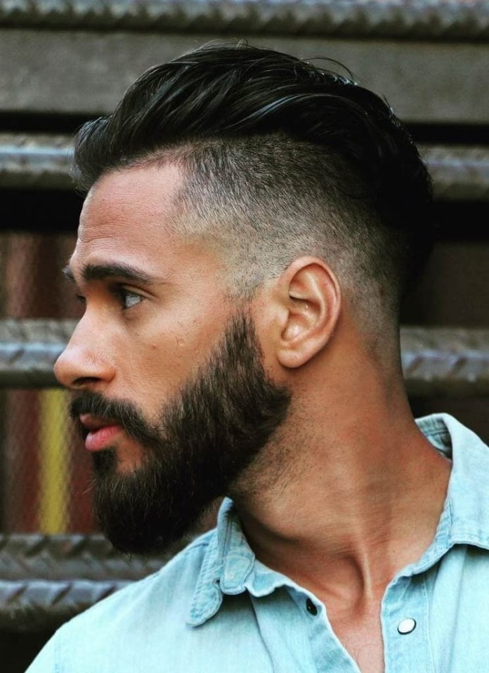 Mid-Fade-with-Slick-Back Stylish Undercut Hairstyle Variations in 2019: A Complete Guide