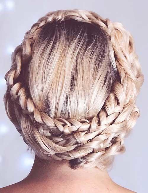 Multiple-Braided-Crown-Braid Beautiful Crown Braid Hairstyles