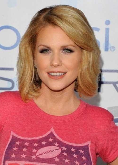 Nice-Blonde-Medium-Short-Haircut Cute Medium Short Haircuts