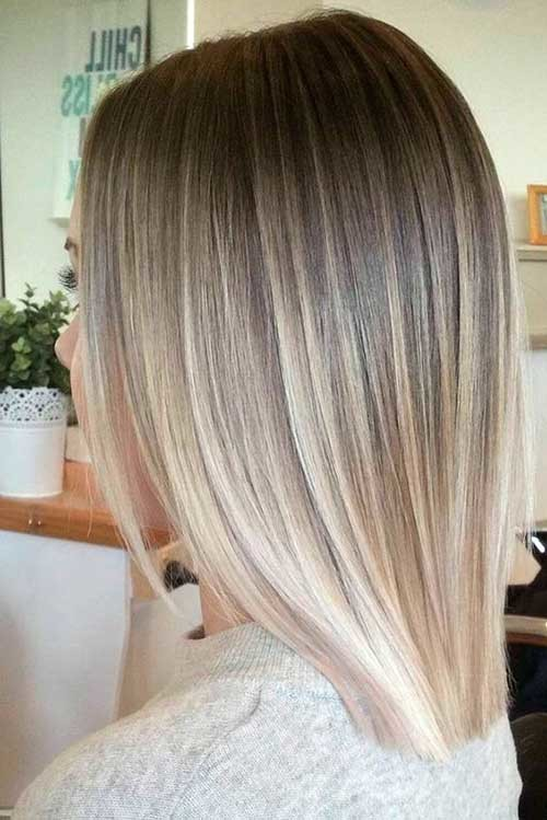 Ombre-Blonde-Hair Must-See Straight Hairstyles for Short Hair