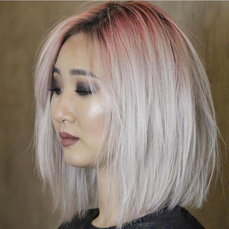 Pink-and-Blonde-Hair New Bob Hairstyles 2019