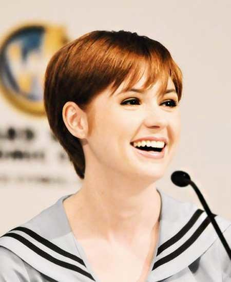 Pixie-Cut-for-Straight-Hair Beautiful Short Celebrity Hairstyles