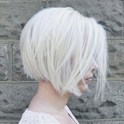Platinum-Blonde-Short-Hairstyle Haircut Styles for Short Hair