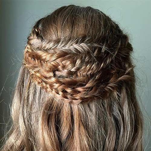 Quadruple-Crown-Braid Beautiful Crown Braid Hairstyles