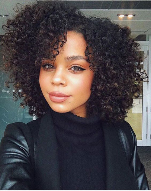 Quick-Weave-Curly-Hair Best Short Hair Cuts on Black Women in 2019